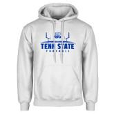 White Fleece Hoodie-Tenn State Football w/ Field