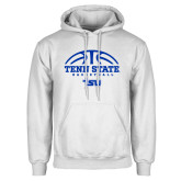 White Fleece Hood-Tenn State Basketball w/ Half Ball