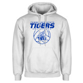 White Fleece Hoodie-Tennessee State Tigers Volleyball Stacked