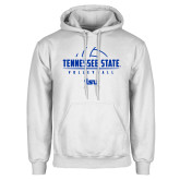 White Fleece Hoodie-Tennessee State Volleyball Half Ball