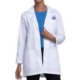 Ladies White Lab Coat-Official Logo