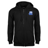 Black Fleece Full Zip Hood-Official Logo