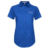 Ladies Royal Twill Button Up Short Sleeve-TSU