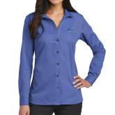 Ladies Red House French Blue Long Sleeve Shirt-TSU