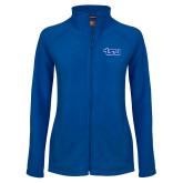 Ladies Fleece Full Zip Royal Jacket-TSU