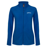 Ladies Fleece Full Zip Royal Jacket-Arched Tennessee State University