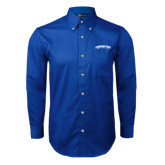Royal Twill Button Down Long Sleeve-Arched Tennessee State University