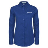 Ladies Royal Twill Button Down Long Sleeve-Arched Tennessee State University