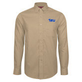 Red House Tan Long Sleeve Shirt-TSU