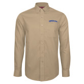 Red House Tan Long Sleeve Shirt-Arched Tennessee State University