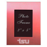 Pink Brushed Aluminum 3 x 5 Photo Frame-TSU Engraved