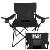 Deluxe Black Captains Chair-Big Blue Rising