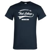 Navy T Shirt-Thiel College Sigma Phi Epsilon