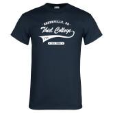 Navy T Shirt-Thiel College Zeta Tau Alpha