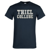Navy T Shirt-Thiel College Distressed