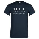 Navy T Shirt-Criminal Justice Club