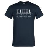 Navy T Shirt-Marching Thiel Pride