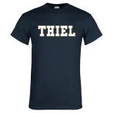 Navy T Shirt-Thiel College Block
