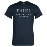 Navy T Shirt-Chi Omega