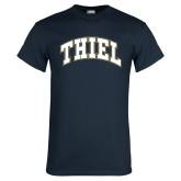 Navy T Shirt-Thiel Block Arched
