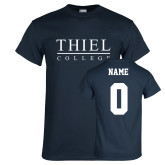 Navy T Shirt-Thiel Logo, Custom Tee w/ Name and #