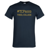 Navy T Shirt-Hashtag TCProud