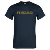 Navy T Shirt-Hashtag Thiel 2022