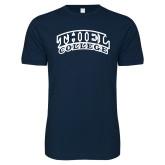 Next Level SoftStyle Navy T Shirt-Athletic Logo