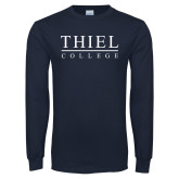 Navy Long Sleeve T Shirt-Thiel Logo