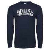 Navy Long Sleeve T Shirt-Athletic Logo
