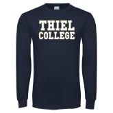 Navy Long Sleeve T Shirt-Thiel College