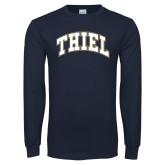 Navy Long Sleeve T Shirt-Thiel Block Arched