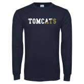 Navy Long Sleeve T Shirt-Tomcats Two Color