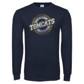 Navy Long Sleeve T Shirt-Tomcat Target