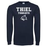 Navy Long Sleeve T Shirt-Thiel Tomcats