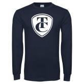Navy Long Sleeve T Shirt-TC Shield