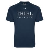 Under Armour Navy Tech Tee-Thiel Logo