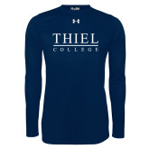 Under Armour Navy Long Sleeve Tech Tee-Thiel Logo