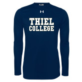 Under Armour Navy Long Sleeve Tech Tee-Thiel College