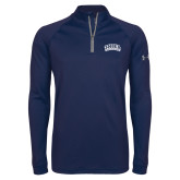 Under Armour Navy Tech 1/4 Zip Performance Shirt-Athletic Logo