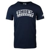 Adidas Navy Logo T Shirt-Athletic Logo