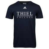 Adidas Climalite Navy Ultimate Performance Tee-Thiel Logo
