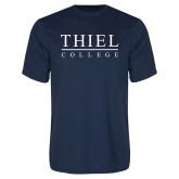 Performance Navy Tee-Thiel Logo