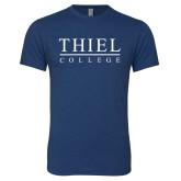 Next Level Vintage Navy Tri Blend Crew-Thiel Logo