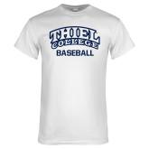 White T Shirt-Baseball
