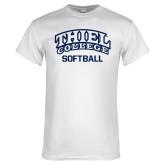 White T Shirt-Softball