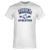 White T Shirt-Thiel College Athletics