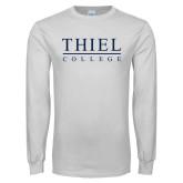 White Long Sleeve T Shirt-Thiel Logo