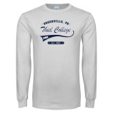White Long Sleeve T Shirt-Thiel College Sigma Phi Epsilon
