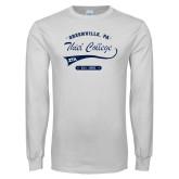 White Long Sleeve T Shirt-Thiel College Zeta Tau Alpha